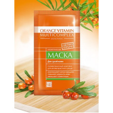 Маска в пакетике для лица с пастой облепихи Orange Vitamin Multicomplex